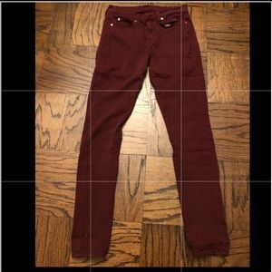 7 for all mankind Gwenevere burgundy jeans
